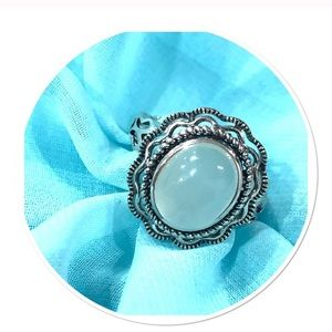 NWOT Sterling silver/ chalcedony ring